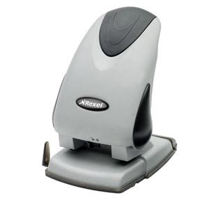 Rexel Precision P265 2 Hole Punch (Silver/Black)