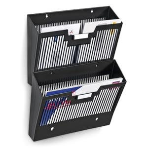 CEP 123 Mailroom Wall File 2-compartment (Black)