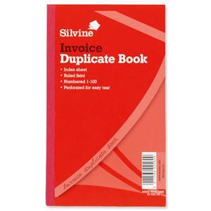 Silvine Duplicate Book Invoice 1-100