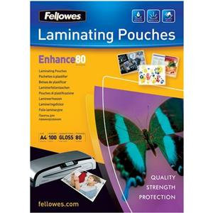 Fellowes Enhance (A3) 80 Micron Laminating Pouches