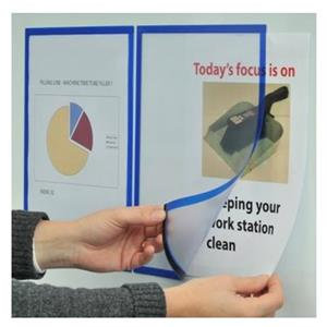 Magiboards Solo (A4) Magnetic Paper Holder Window See Through Front / Pack of 2