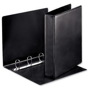 Esselte A4 25mm Press D-Ring binder (Black)