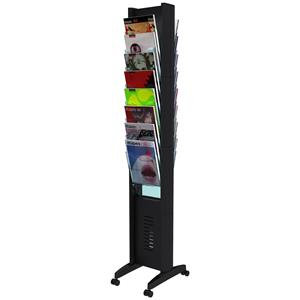 Fast Paper Single-Sided 16-Compartment Literature Display Black