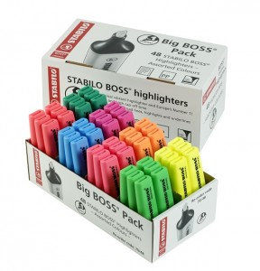 Stabilo BOSS ORIGINAL (2-5mm) Chisel Tip Highlighters (Assorted)