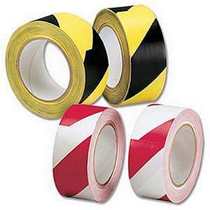 Robinson Young Hazard Tape Soft PVC Internal use 50 mm x 33 m (Black and Yellow)