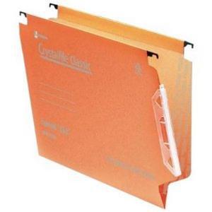 Rexel Crystalfile Classic 330 Lateral File 30mm Orange