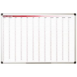 Bi-Silque Magnetic 52-Week Annual Planner (900mm x 600mm) with Pen Tray and Moun