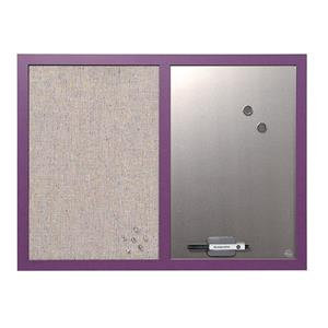 Bi-Silque Combination Board (600mm x 450mm) with Lavender Frame