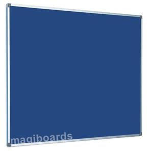Magiboards Fire Retardant Felt Notice Board Aluminium Frame (Blue)