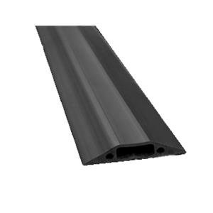 D-Line (1.8m) Linkable Floor Cable Cover (80mm Wide) with C/W Connectors (Black)