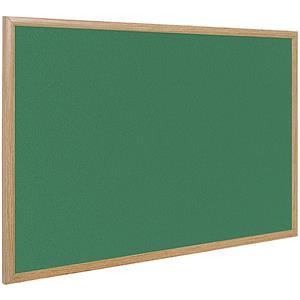 Bi-Office Earth-It (1800 x 1200mm) Felt Notice Board Oak Frame