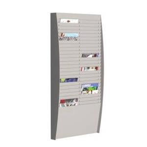 Fast Paper (A4) Document Control Panel 2 x 25 Compartments Wall Mounted (Grey)