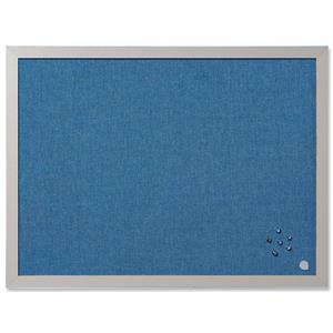 Bi-Office Notice Board (600mm x 450mm) Blue