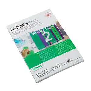 GBC Peel and Stick (A4) Laminating Pouches Self Adhesive 250 Micron for Signs an