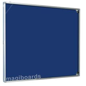 Magiboards Best Buy (90x60cm) Lockable Felt Notice Board 1-Door Aluminium Frame