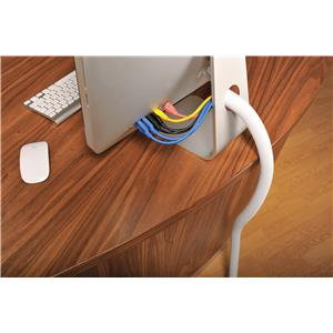 D-Line (32mm) Flexible Tube Cable Tidy (White)