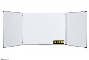 Bi-Office Maya (1200 x 900mm) Trio Folding Magnetic Whiteboard