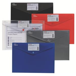 Snopake Polyfile ID (A4) Polyprop Wallet File with Card Holder (Assorted)