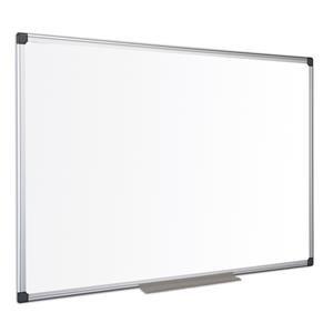 Bi-Office Maya (1500 x 1200mm) Melamine Whiteboard Non-Magnetic Aluminium Framed