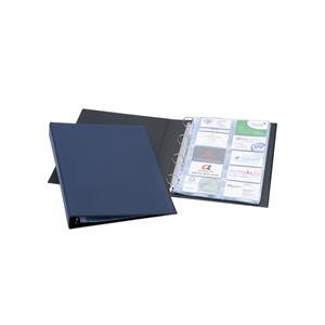 Durable Visifix A4 Business Card Album Dark Blue for 400 Business Cards