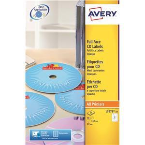 Avery Laser Full Face 117m Labels (White)