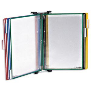 Tarifold Technic (A4) Wall Display Unit with 5 Clip-on Index Tabs and 10 Pockets