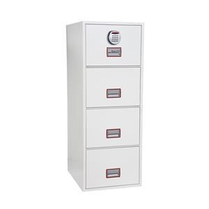 Phoenix World Class Vertical Fire File 4 Drawer Filing Cabinet with Fingerprint