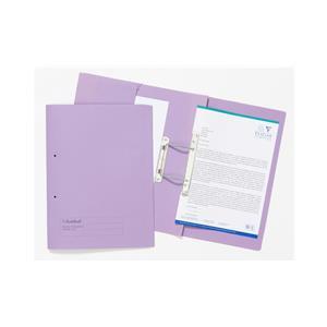 Guildhall (Foolscap) 315g/m2 Manilla Pocket Spiral File Folder (Mauve)
