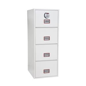 Phoenix World Class Vertical Fire File 4 Drawer Filing Cabinet with Electronic
