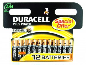 AAA Duracell Plus Batteries