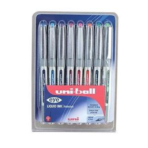 Uni-Ball Eye Fine UB-157 Rollerball Pen Line-(0.5mm) Tip-(0.7mm) Assorted