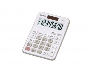 Casio MX-8B-WE Desk Calculator Auto Power Off 2 Year Manufacturers Warranty