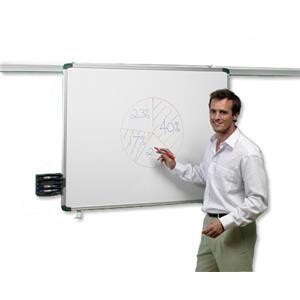 Nobo (1800mm) Pro-Rail Drywipe Board Magnetic - Aluminium Trim