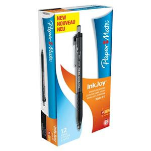 PaperMate InkJoy 300 RT Medium Retractable Ballpoint Pen / Pack 12