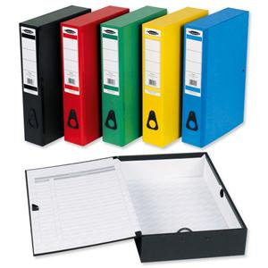 Concord Centurion Box File Paper-lock Finger-pull and Catch 75mm Spine Packed 10