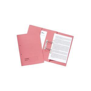 Guildhall Pocket Spiral File Foolscap 285gsm Pink