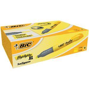 Bic Marking Highlighter XL Pen-shaped Highlighter Pen / Pack of 10