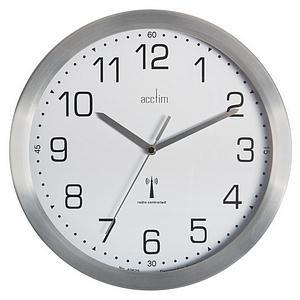 Acctim Mason (25cm) Radio Controlled Wall Clock (Brushed Aluminium)