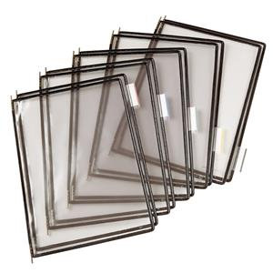 Tarifold (A4) PVC Display Pockets (Black) Pack of 10 for use with Info Stand