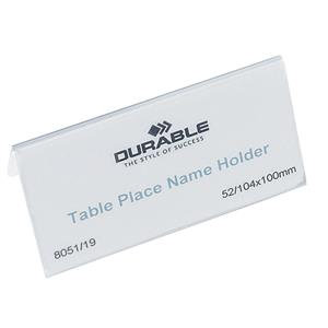 Durable (52x100mm) Table Place Name Holder (Transparent)
