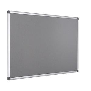 Bi-Office Felt Notice Board Aluminium Frame Grey 1200 x 900mm