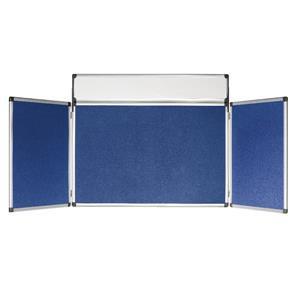 Bi-Office (900x600x160mm) 4-Panel Mini Display Kit Blue