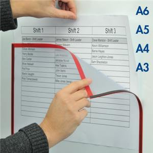 Magiboards Solo (A4) Magnetic Paper Holder Window with See Through Front