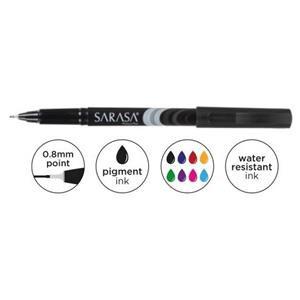 Zebra Sarasa Porous Fineliner Pen 0.8mm Black