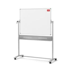 Nobo Mobile 1200x900mm Horizontal Pivot Magnetic Steel Whiteboard