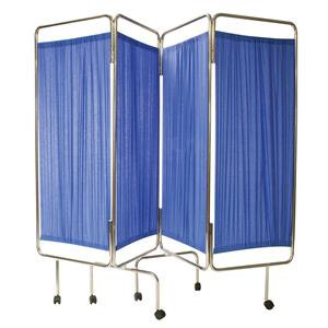 Reliance Medical Relequip Medical Screen Four Way Folding including Curtain