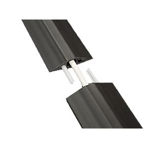 D-Line (1.8m) Linkable Floor Cable Cover (68mm Wide) with C/W Connectors (Black)