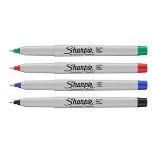 Sharpie Permanent Markers Ultra-Fine Tip Assorted Colours