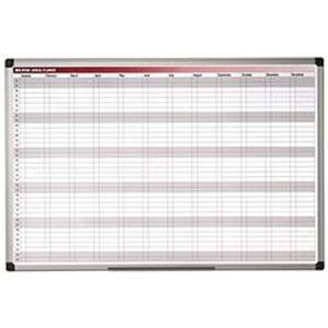 Bi-Office Magnetic Monthly Annual Planner (900mmx600mm)