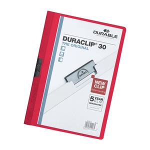 Durable Duraclip 30 (A4) Folder PVC Plastic 3mm Spine  25 Folders